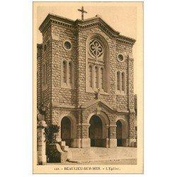 carte postale ancienne 06 BEAULIEU. L'Eglise