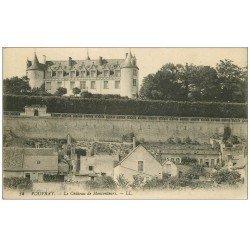 carte postale ancienne 37 VOUVRAY. Château Moncontour. Tampon Chemins de Fer