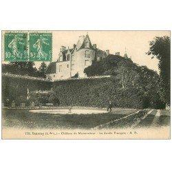 carte postale ancienne 37 VOUVRAY. Jardin Français Château 1926
