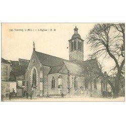 carte postale ancienne 37 VOUVRAY. L'Eglise animée
