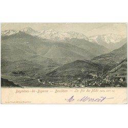 carte postale ancienne 65 BAGNERES-DE-BIGORRE. Baudéan le Pic du Midi 1903