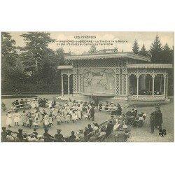 carte postale ancienne 65 BAGNERES-DE-BIGORRE. Farandole et Bal d'Enfants Théâtre de la Nature