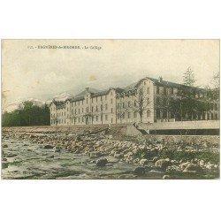 carte postale ancienne 65 BAGNERES-DE-BIGORRE. Le Collège. Carte colorisée