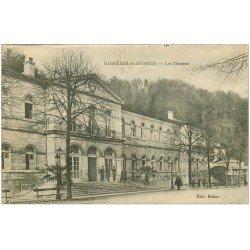 carte postale ancienne 65 BAGNERES-DE-BIGORRE. Les Thermes animation