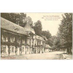 carte postale ancienne 65 BAGNERES-DE-BIGORRE. Les Thermes du Salut animés