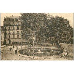 carte postale ancienne 65 BAGNERES-DE-BIGORRE. Promenade des Coustous 1933