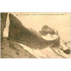 carte postale ancienne 65 GAVARNIE. Brèche de Roland et Casque 1928. Carte dentelée