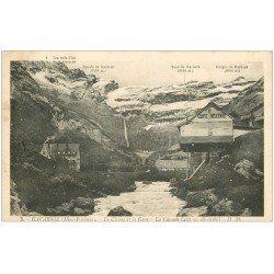 carte postale ancienne 65 GAVARNIE. Café Bellevue. Cascade, Cirque et Gave