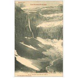 carte postale ancienne 65 GAVARNIE. Fond du Cirque et Marboré avec Grande Cascade