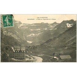 carte postale ancienne 65 GAVARNIE. Hôtel de Vignemale et Cirque 1917