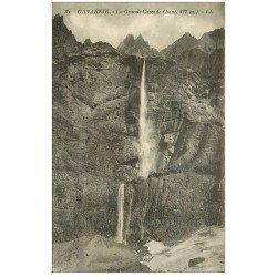 carte postale ancienne 65 GAVARNIE. La Grande Cascade 1931