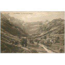 carte postale ancienne 65 GAVARNIE. Le Gave et le Cirque 1927