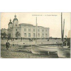 carte postale ancienne 06 CANNES. Casino Municipal. Edition Maillan (ombre bord droit)...