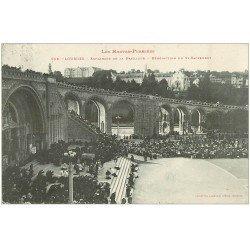 carte postale ancienne 65 LOURDES. Bénédiction du Saint-Sacrement 1910