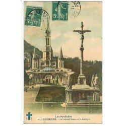 carte postale ancienne 65 LOURDES. Calvaire Breton 1911