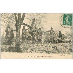 carte postale ancienne 65 LOURDES. Cinquième Station du Calvaire 1910