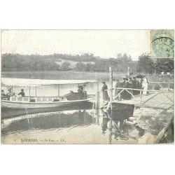 carte postale ancienne 65 LOURDES. Embarcadère sur le Lac vers 1904