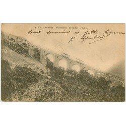carte postale ancienne 65 LOURDES. Funiculaire. Viaduc 1904