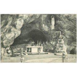 carte postale ancienne 65 LOURDES. Grotte 1958