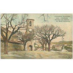 carte postale ancienne 06 CANNES. Clocher Eglise du Mont Chevalier 1906