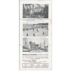 carte postale ancienne 06 CANNES. Dépliant publicitaire Villa Marie Caroline, Volley Ball et Voiliers 3 Avenue des Anglais