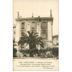 carte postale ancienne 06 CANNES. Donat Rose Villa Pension de famille