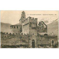 carte postale ancienne 65 LUZ-SAINT-SAUVEUR. Eglise des Templiers 2