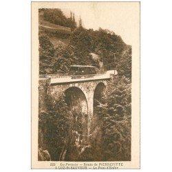 carte postale ancienne 65 ROUTE DE PIERREFITTE à LUZ-SAINT-SAUVEUR. Pont Enfer Tramway