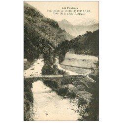 carte postale ancienne 65 ROUTE DE PIERREFITTE à LUZ-SAINT-SAUVEUR. Pont Reine Hortense