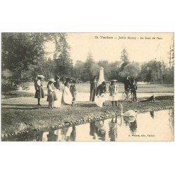 carte postale ancienne 65 TARBES. Cygne au Jardin Massey