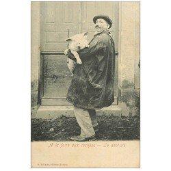 carte postale ancienne 65 TARBES. Le Dentiste ou Languayeur 1908. Vieux métiers à la Foire aux Cochons