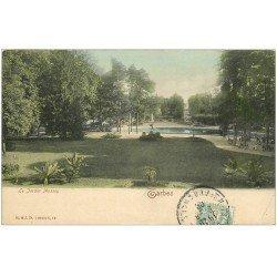carte postale ancienne 65 TARBES. Le Jardin Massey 1906