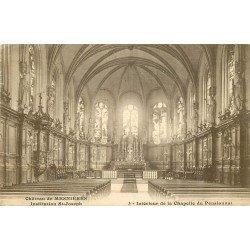 carte postale ancienne 76 CHATEAU DE MESNIERES. Chapelle Pensionnat Institution Saint-Joseph