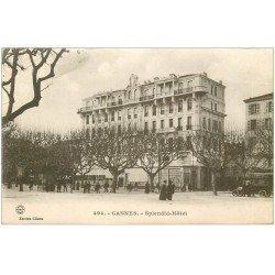 carte postale ancienne 06 CANNES. Hôtel Spmendid