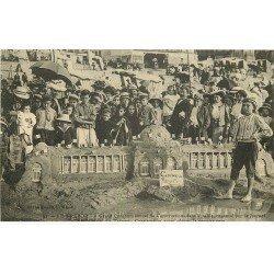 carte postale ancienne 76 LE TREPORT. Concours construction de sable organisé par le Journal
