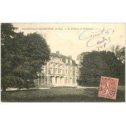 carte postale ancienne 76 ALLOUVILLE-BELLEFOSSE. Le Château 1907