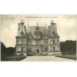 carte postale ancienne 76 ANGERVILLE-BAILLEUL. Façade Château