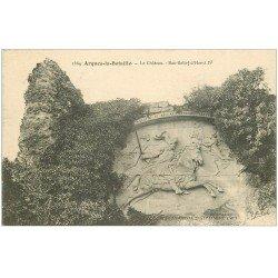 carte postale ancienne 76 ARQUES-LA-BATAILLE. Château Bas-Relief Henri IV