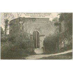 carte postale ancienne 76 ARQUES-LA-BATAILLE. Château Entrée Pavillon