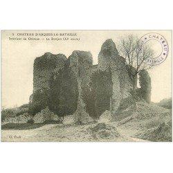 carte postale ancienne 76 ARQUES-LA-BATAILLE. Château le Donjon 5