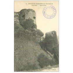carte postale ancienne 76 ARQUES-LA-BATAILLE. Château Pont-Levis