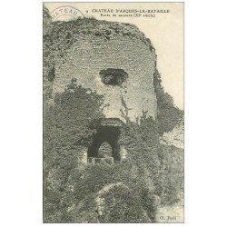 carte postale ancienne 76 ARQUES-LA-BATAILLE. Château Porte de secours