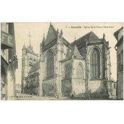 carte postale ancienne 76 AUMALE. Eglise animation