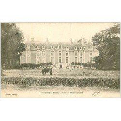 carte postale ancienne 76 CHATEAU DE FRANQUEVILLE. 1903 environs Fécamp