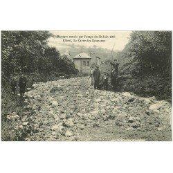 carte postale ancienne 76 ELBEUF. La Cavée des Escameaux Orage de 1908