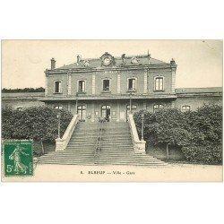 carte postale ancienne 76 ELBEUF. La Gare 1913