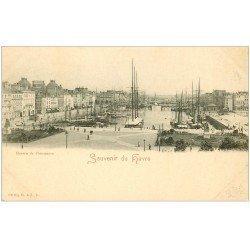 carte postale ancienne 76 LE HAVRE. Bassin du Commerce Yachts et Voiliers