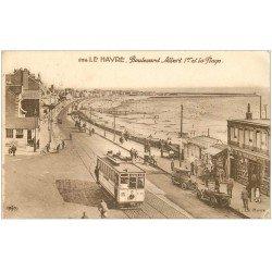 carte postale ancienne 76 LE HAVRE. Boulevard Albert Ier 1934