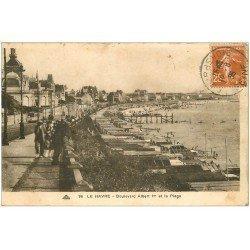 carte postale ancienne 76 LE HAVRE. Boulevard Albert Ier 1935