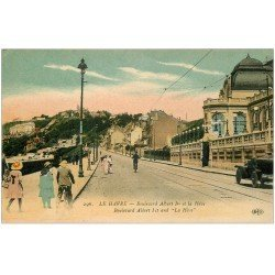 carte postale ancienne 76 LE HAVRE. Boulevard Albert Ier et la Hève